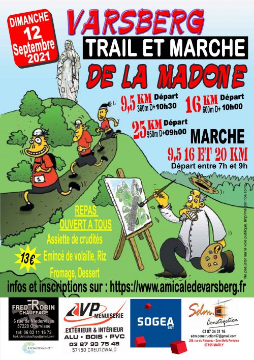 Trail et marche de la Madone à Varsberg